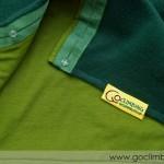 Вълнен шал Go Climbing, модел Fata - зелен 2, детайл