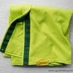 Scarf Go Climbing, Fata, green 2, cotton
