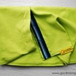 Scarf Go Climbing, Fata, green 1, cotton
