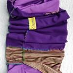 Sport scarf Go Climbing, Clotho, cotton, purple