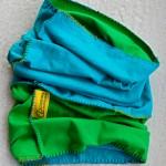 Sport scarf Go Climbing, Clotho, cotton, blue, green