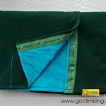 Scarf Go Climbing, Fata, green - blue, wool