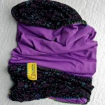 Sport scarf Go Climbing, Clotho, cotton, purple, flowers